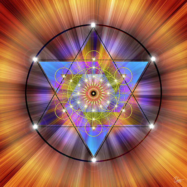 Digital Art - Sacred Geometry 44 by Endre Balogh