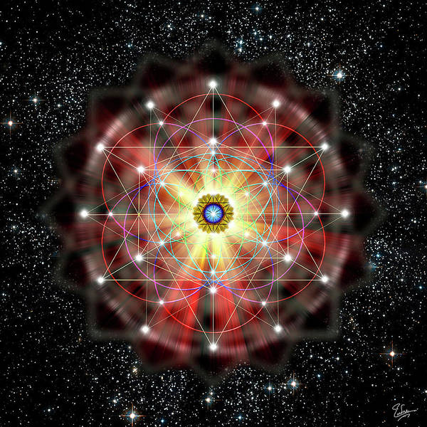 Digital Art - Sacred Geometry 45 by Endre Balogh