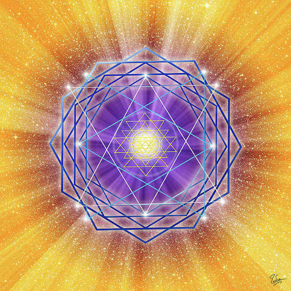 Digital Art - Sacred Geometry 47 by Endre Balogh