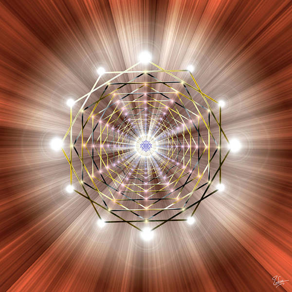 Digital Art - Sacred Geometry 49 by Endre Balogh