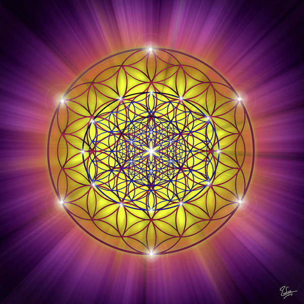 Digital Art - Sacred Geometry 54 by Endre Balogh