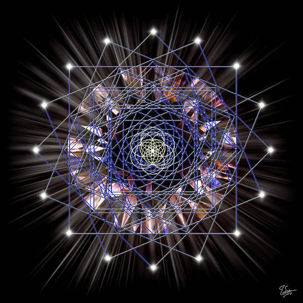 Digital Art - Sacred Geometry 55 by Endre Balogh