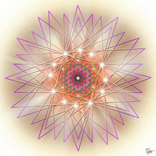 Digital Art - Sacred Geometry 57 by Endre Balogh