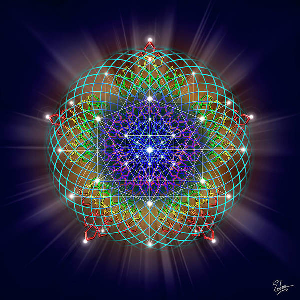 Digital Art - Sacred Geometry 62 by Endre Balogh