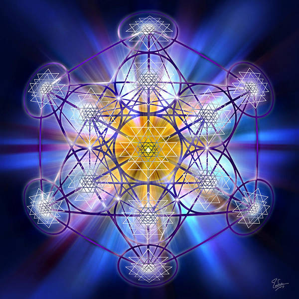 Digital Art - Sacred Geometry 63 by Endre Balogh