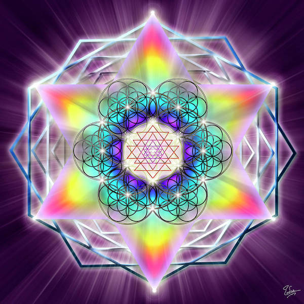 Digital Art - Sacred Geometry 65 by Endre Balogh