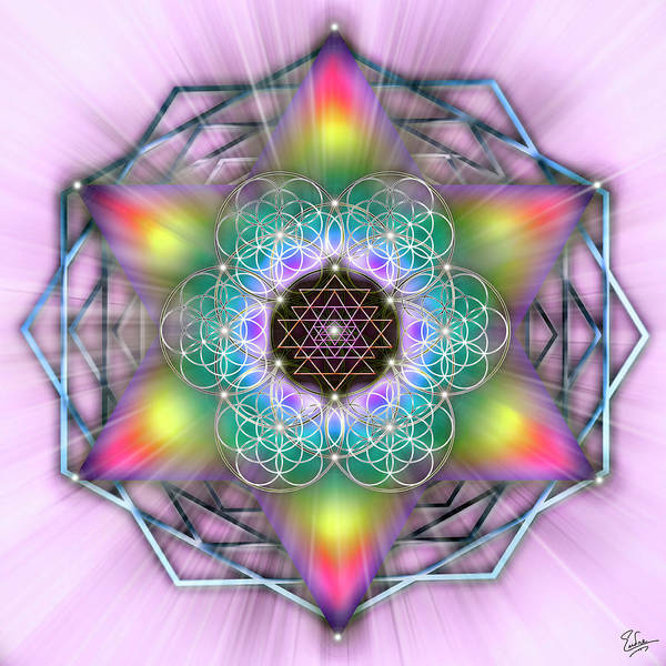 Digital Art - Sacred Geometry 65 Number 2 by Endre Balogh