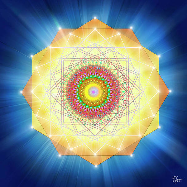 Digital Art - Sacred Geometry 66 by Endre Balogh