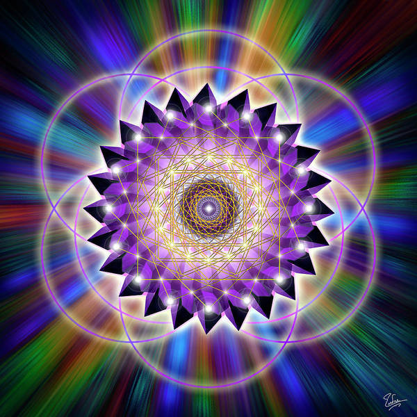 Digital Art - Sacred Geometry 74 by Endre Balogh