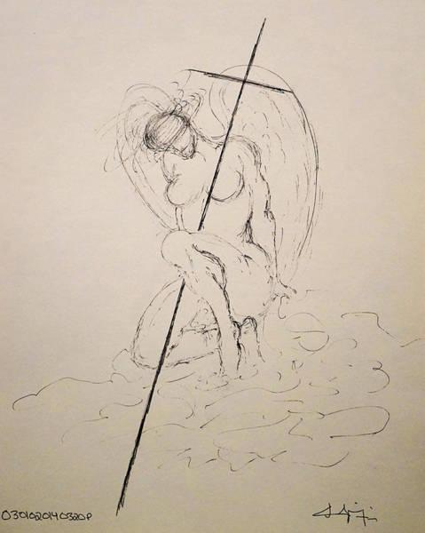 Drawing - Sacred by Giorgio Tuscani