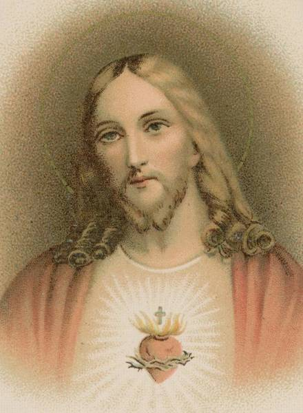 Church Of The Cross Painting - Sacred Heart by French School