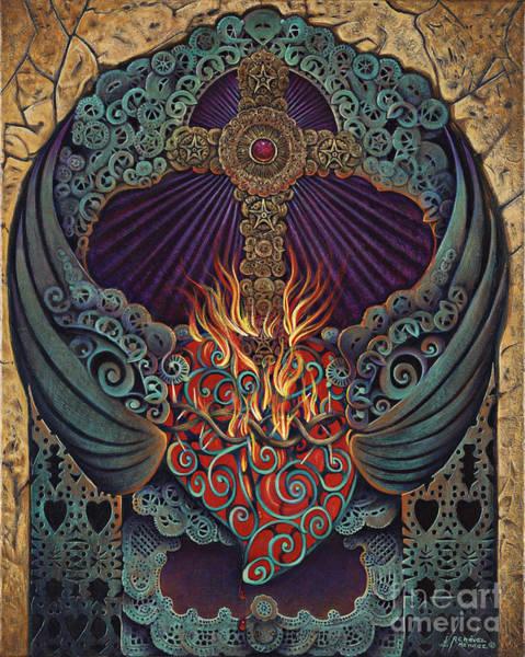 Sacred Heart Painting - Sacred Heart by Ricardo Chavez-Mendez