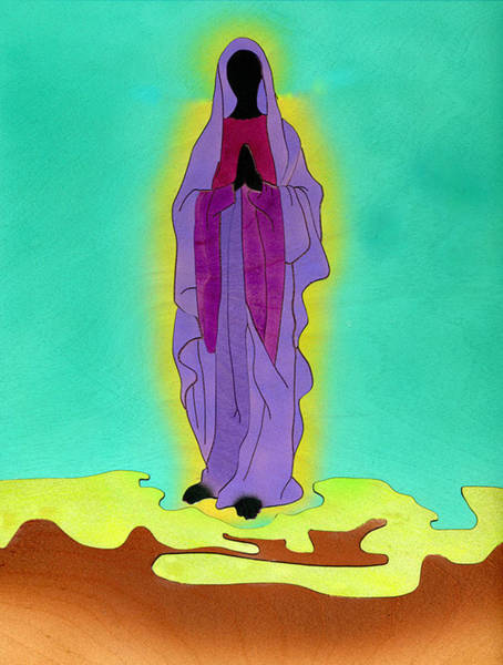 Mixed Media - Sacred Mother Mary by Fred Gardner