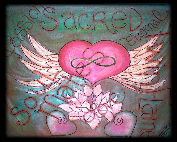 Wall Art - Painting - Sacred Soulmates And Twin Flames by Absinthe Art By Michelle LeAnn Scott