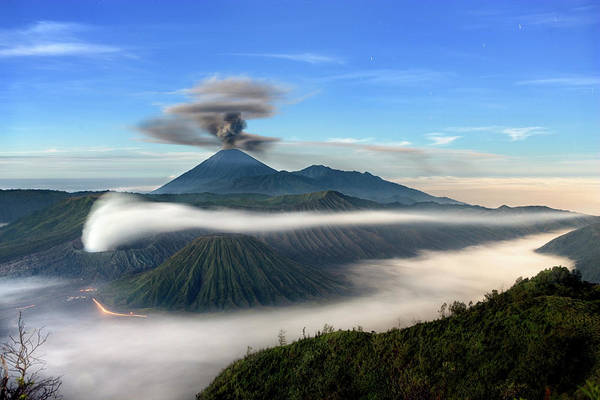 Wall Art - Photograph - Sacred Volcanoes Known As Mount Semeru by John Stanmeyer