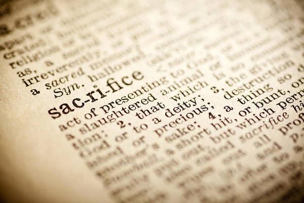 Words Photograph - Sacrifice by Samuel Whitton