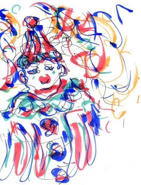 Drawing - Sad Clowns I by Rachel Scott