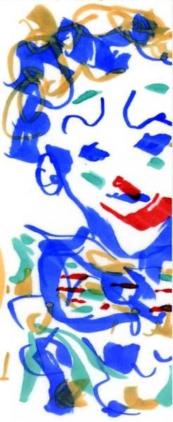 Drawing - Sad Clowns II by Rachel Scott