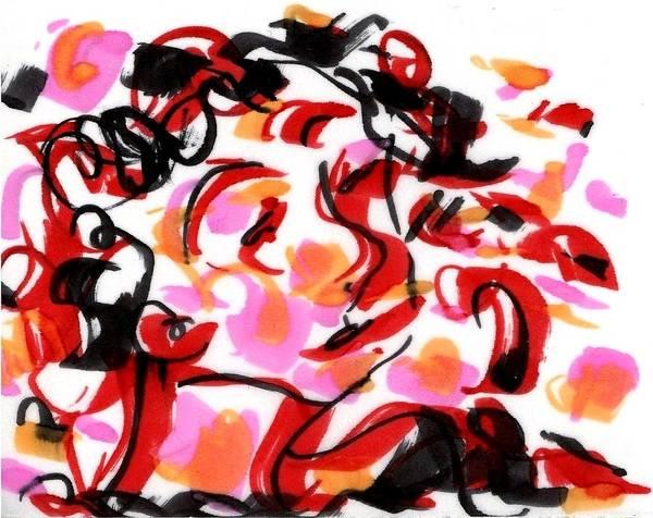 Drawing - Sad Clowns IIi by Rachel Scott