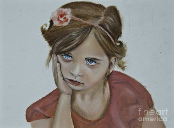 Painting - Sad Little Girl by James Lavott