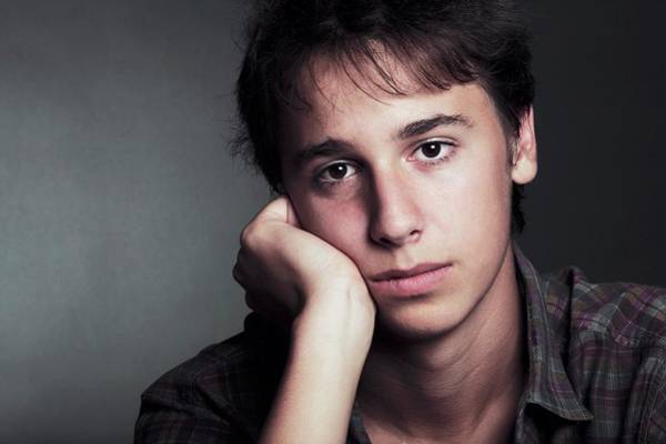 Psychiatry Photograph - Sad Young Man by Mauro Fermariello/science Photo Library
