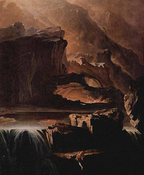 Genie Painting - Sadak And The Waters Of Oblivion  by John Martin