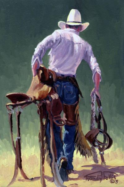 Follis Wall Art - Painting - Saddle Bronc Rider by Randy Follis