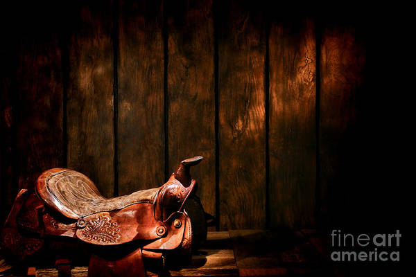 Saddle Photograph - Saddle In The Corner by Olivier Le Queinec