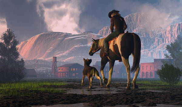 Digital Art - Saddle Tale by Dieter Carlton
