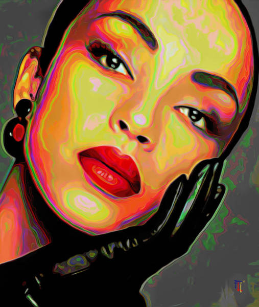 Entertainer Painting - Sade 4 by Fli Art