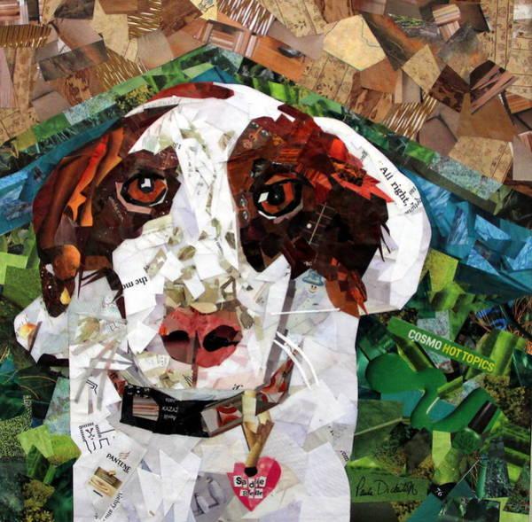 Canine Mixed Media - Sadie Belle by Paula Dickerhoff
