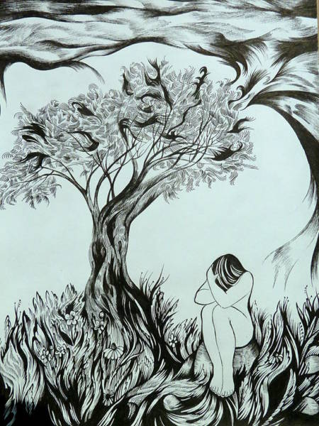 Unity Drawing - Sadness by Anna  Duyunova
