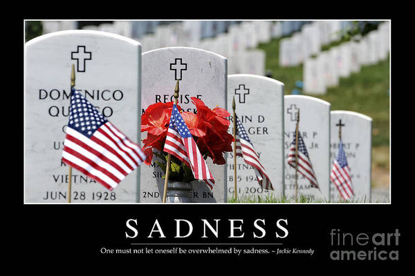 Photograph - Sadness Inspirational Quote by Stocktrek Images