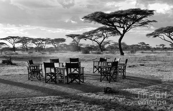 Photograph - Safari Campfire by Chris Scroggins