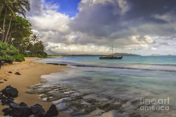 Outrigger Canoe Photograph - Safe Harbor by Mitch Shindelbower