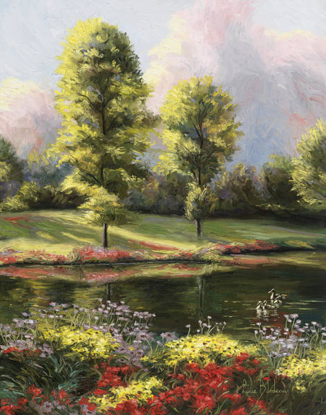 Pond Painting - Safe Haven 1 by Lucie Bilodeau