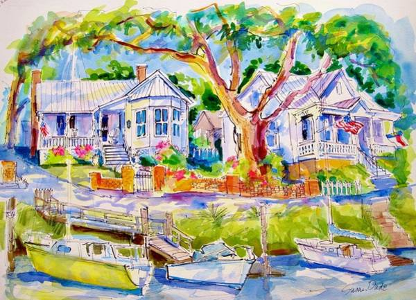 Oak Harbor Painting - Safe Haven House by Susan Dade
