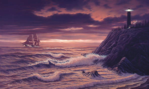 Painting - Safe Passage by Del Malonee