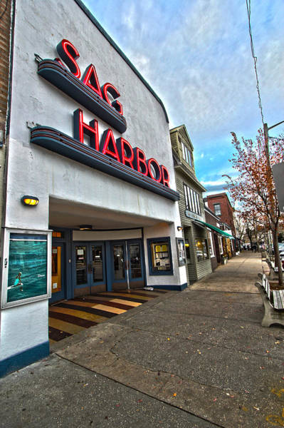North Coast Harbor Photograph - Sag Harbor Theater by Robert Seifert