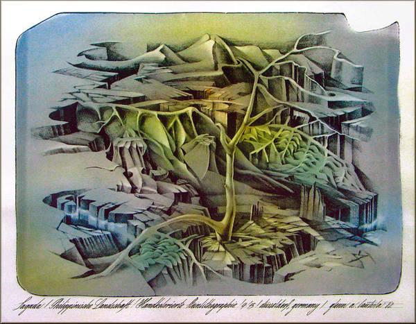 Drawing - Sagada 1982 by Glenn Bautista