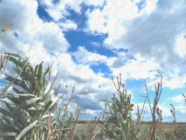 Prairie View Digital Art - Sagebrush Sky by Aliceann Carlton
