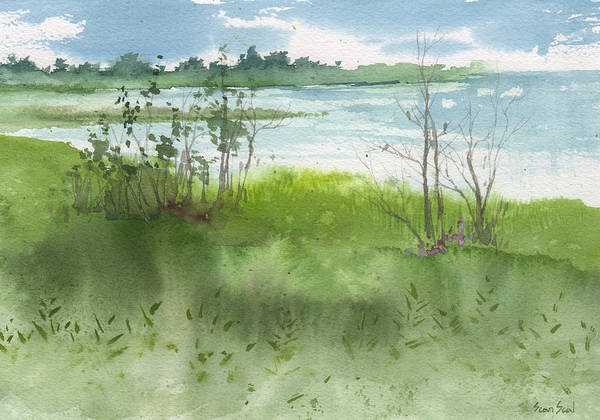 Painting - Saginaw Bay 7-26-13 by Sean Seal