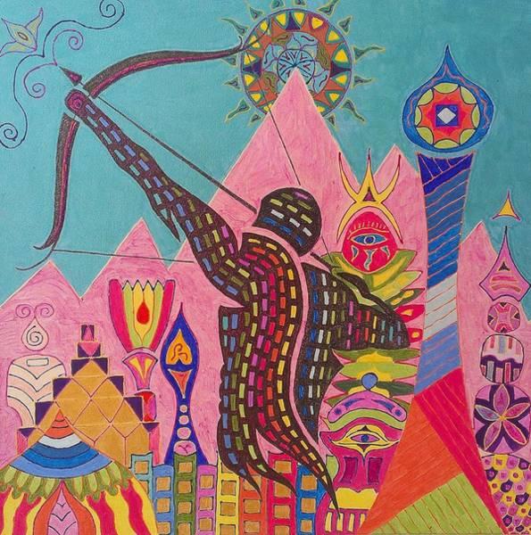 Initiation Painting - Sagitarius City by Mauro Zaraj