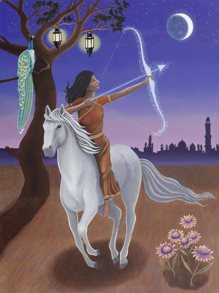 Archery Wall Art - Painting - Sagittarius / Saraswati by Karen MacKenzie