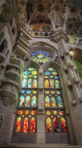 Photograph - Sagrada Familia Window by Joan Carroll