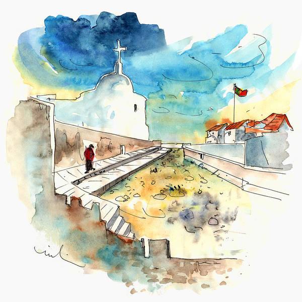 Sagre Wall Art - Painting - Sagres In The Algarve In Portugal by Miki De Goodaboom