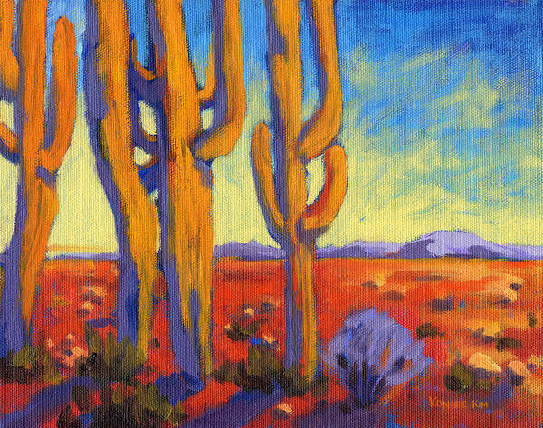 Art Print featuring the painting Desert Keepers by Konnie Kim