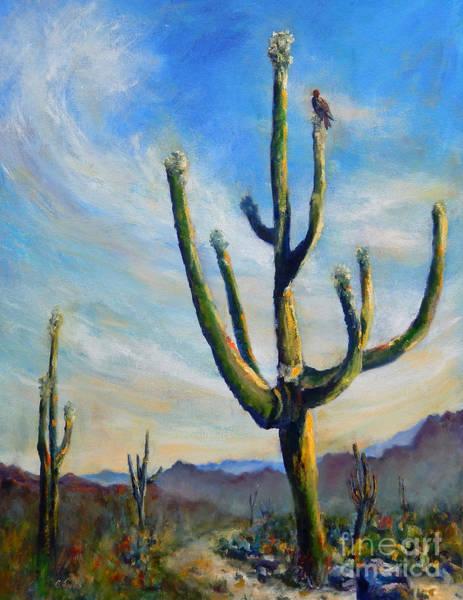Painting - Saguaro Cacti by Carolyn Jarvis