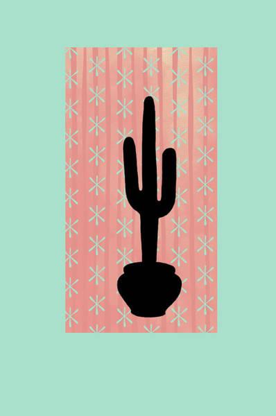 Wall Art - Painting - Saguaro Silhouette by Ramona Murdock
