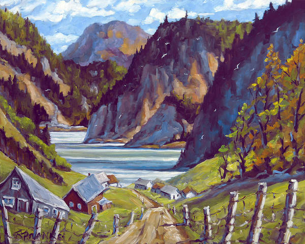 In Canada Painting - Saguenay Summer By Prankearts by Richard T Pranke